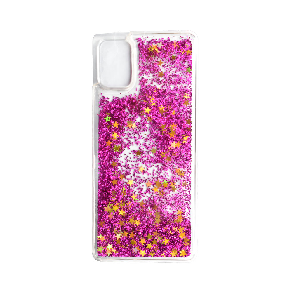 Θήκη Υγρή Χρυσόσκονη Samsung A51 Φούξια