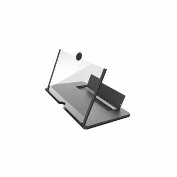 3D Epitrapezios Plastikos Megethyntikos Fakos Kinitou Tilefonou 12 Intson Mavro