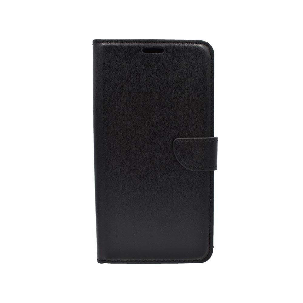 Thiki Portofoli gia Huawei Y6 Prime (2018) Mavro