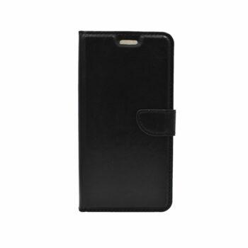 Thiki Portofoli gia Huawei P20 Lite Mavro